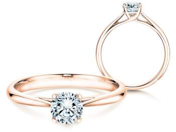 Solitärring Delight in 14K Roségold mit Diamant 0,50ct H/SI