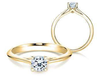 Solitärring Heaven 4 in 14K Gelbgold mit Diamant 0,50ct H/SI