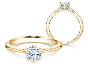 Solitärring Heaven 6 in 14K Gelbgold mit Diamant 0,50ct H/SI
