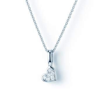 Collier Diamond Heart in 18K Weißgold mit Diamant 0,04ct