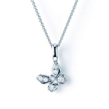 Collier Diamond Butterfly in 18K Weißgold mit Diamant 0,07ct