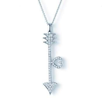 Collier Diamond Arrow in 18K Weißgold mit Diamant 0,18ct
