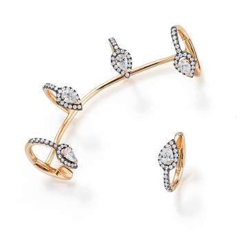 Ohrschmuck Five Drops in 18K Roségold mit Diamant 0,92ct