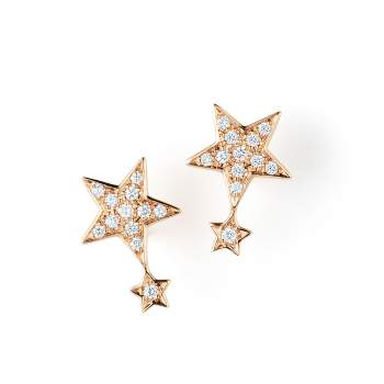 Ohrschmuck Little Big Star in 18K Roségold mit Diamant 0,18ct