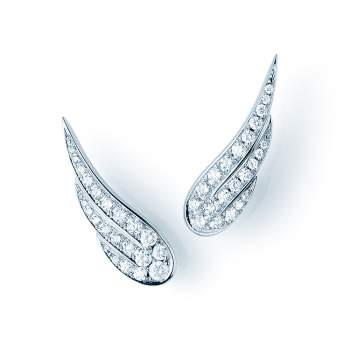 Ohrschmuck Diamond Wings in 18K Weißgold mit Diamant 0,52ct