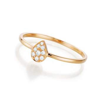 Diamantring Light Drop in 18K Roségold mit Diamant 0,08ct