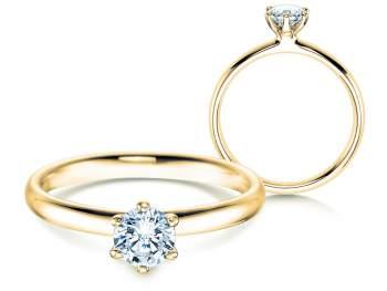 Verlobungsring Classic in 14K Gelbgold mit Diamant 0,50ct H/SI
