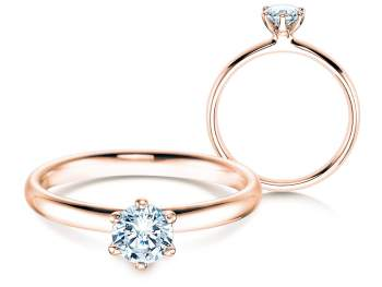 Verlobungsring Classic in 14K Roségold mit Diamant 0,50ct H/SI