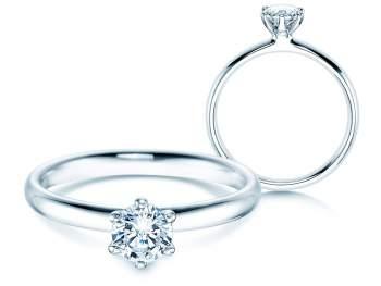 Verlobungsring Classic in 14K Weißgold mit Diamant 0,50ct H/SI