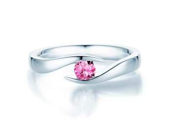 Pinker Turmalinring Twist in Silber