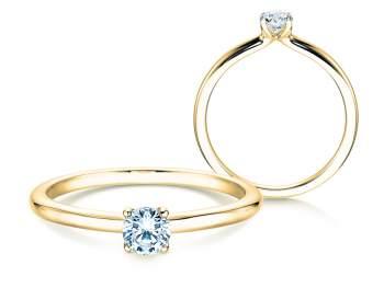 Verlobungsring Classic 4 in Gelbgold mit Diamant