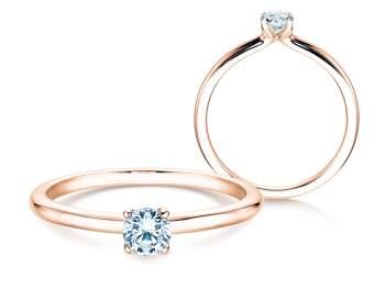 Verlobungsring Classic 4 in Roségold mit Diamant