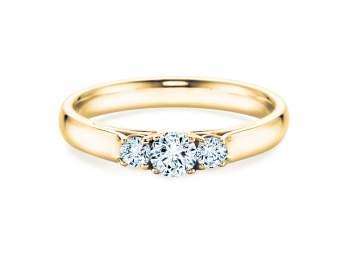 Verlobungsring 3 Stones in Gelbgold