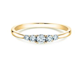 Verlobungsring 5 Diamonds in Gelbgold