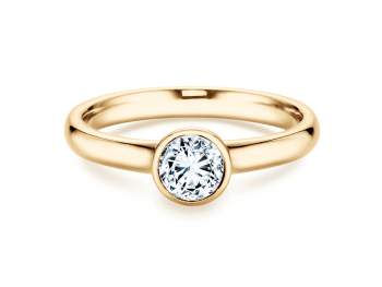 Solitärring Eternal in 14K Gelbgold mit Diamant 0,50ct H/SI