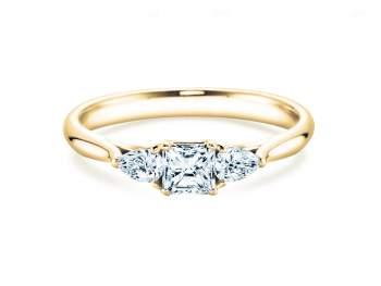 Verlobungsring Glory Princess in Gelbgold mit Diamanten 0,53ct