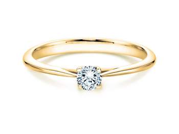 Solitärring Delight in 14K Gelbgold mit Diamant 0,75ct H/SI