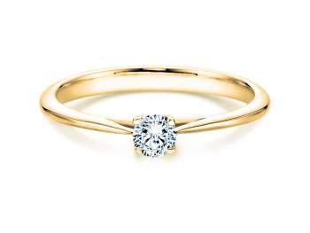 Solitärring Delight in 14K Gelbgold mit Diamant 0,75ct H/SI
