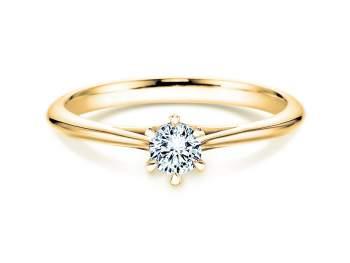 Solitärring Heaven 6 in 14K Gelbgold mit Diamant 0,75ct H/SI