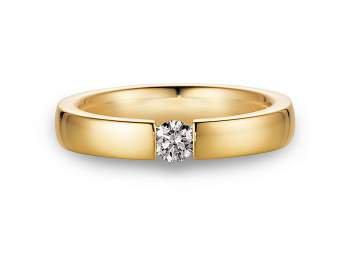 Verlobungsring Infinity in 18K Gelbgold mit Diamant 0,25ct G/IF