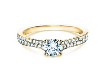 Verlobungsring Claire in 18K Gelbgold mit Diamant 0,70ct