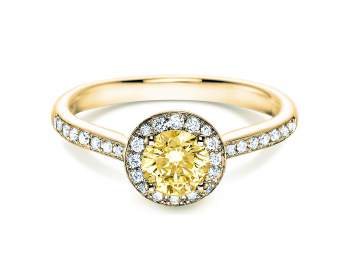 Halo Intense in 18K Gelbgold mit Diamant 0,78ct