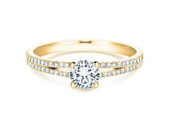 Verlobungsring Dynasty Petite in 18K Gelbgold mit Diamant 0,85ct
