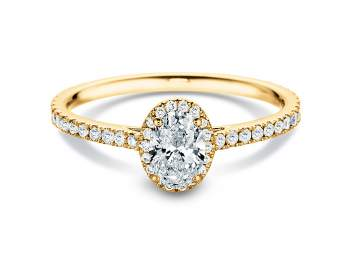 Diamantring Pure Emotion in 18K Gelbgold mit Diamant 0,93ct