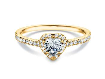 Diamantring Pure Love in 18K Gelbgold mit Diamant 0,93ct