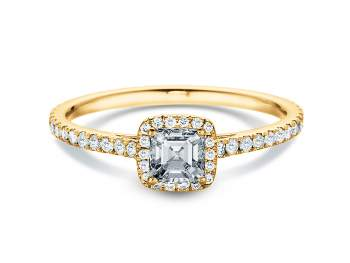 Diamantring Pure Life in 18K Gelbgold mit Diamant 0,97ct