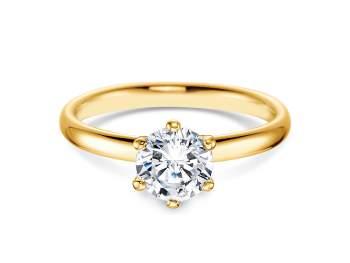 Verlobungsring Classic in 18K Gelbgold mit Diamant 1,00ct G/IF