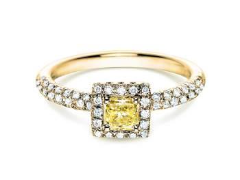 Verlobungsring Sophie in 18K Gelbgold mit Diamant 1,02ct