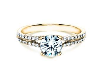 Verlobungsring Dynasty in 18K Gelbgold mit Diamant 1,27ct