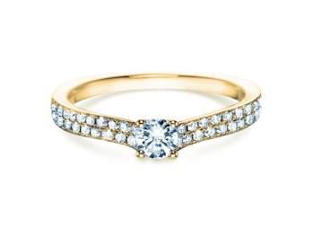 Verlobungsring Claire Petite in 18K Gelbgold mit Diamant 0,50ct