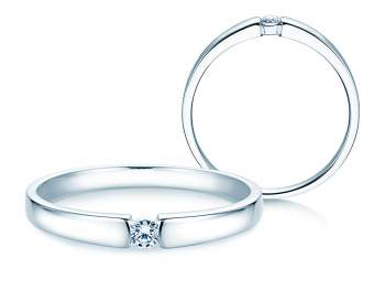 Verlobungsring Infinity Petite in Weißgold
