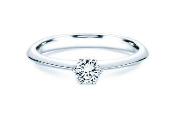 Solitärring The One in Platin mit Diamant 0,25ct