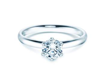 Verlobungsring Classic in Platin mit Diamant 0,75ct G/IF