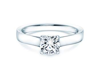 Verlobungsring Modern in Platin mit Diamant 0,75ct G/IF