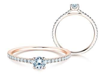 Diamantring Pure Diamond in Roségold