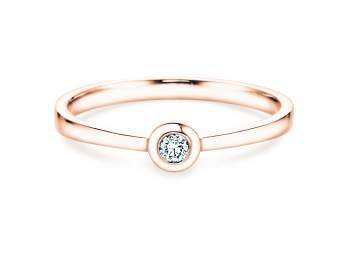 Solitärring Eternal Petite in Roségold mit Diamant 0,05ct