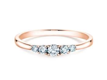 Verlobungsring 5 Diamonds in Roségold