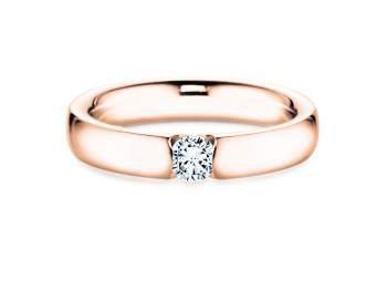 Spannring Destiny in 18K Roségold mit Diamant 0,25ct G/IF