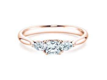 Verlobungsring Glory Princess in Roségold mit Diamanten 0,53ct