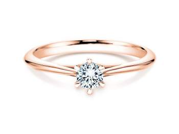 Solitärring Heaven 6 in 14K Roségold mit Diamant 0,75ct H/SI
