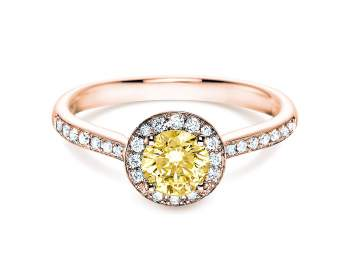 Halo Intense in 18K Roségold mit Diamant 0,78ct