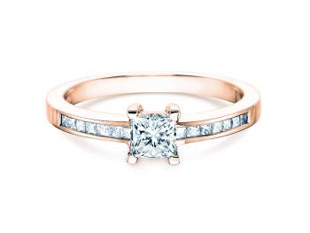 Diamantring Chloe in 18K Roségold mit Diamant 0,84ct