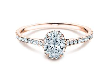 Diamantring Pure Emotion in 18K Roségold mit Diamant 0,93ct