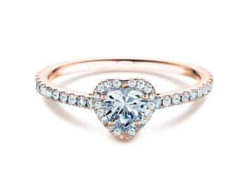 Diamantring Pure Love in 18K Roségold mit Diamant 0,93ct