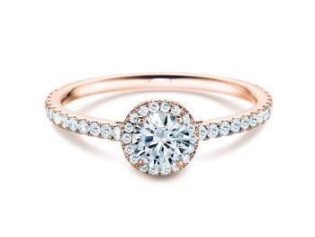 Diamantring Pure Infinity in 18K Roségold mit Diamant 0,95ct