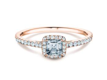Diamantring Pure Life in 18K Roségold mit Diamant 0,97ct